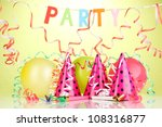 party items on green background | Shutterstock . vector #108316877