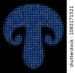 champignon mushroom halftone... | Shutterstock .eps vector #1083171521