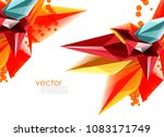 vector color glass crystals on... | Shutterstock .eps vector #1083171749