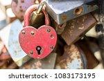 Rusty Heart. Hinged Lock In Th...