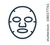 cosmetology facial sheet mask...   Shutterstock .eps vector #1083177761