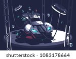 flying racing car of future for ... | Shutterstock .eps vector #1083178664