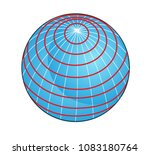 geographic coordinate system of ... | Shutterstock . vector #1083180764