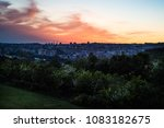 cityscape at sunset | Shutterstock . vector #1083182675