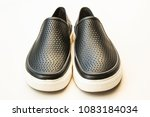 men's fashion black rubber... | Shutterstock . vector #1083184034