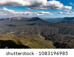 view beyond the three sisters... | Shutterstock . vector #1083196985