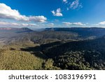 view beyond the three sisters... | Shutterstock . vector #1083196991