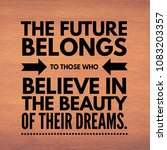 quotes on dreams. motivational... | Shutterstock . vector #1083203357