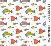 seamless vector pattern with... | Shutterstock .eps vector #1083203915