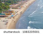 arambol beach. view from the... | Shutterstock . vector #1083205001