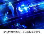 mining concept cyber space with ... | Shutterstock . vector #1083213491