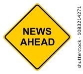 news ahead  yellow square... | Shutterstock .eps vector #1083214271
