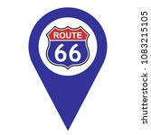 us route 66 pinpoint icon with... | Shutterstock .eps vector #1083215105