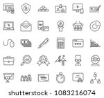 thin line icon set   circle... | Shutterstock .eps vector #1083216074