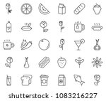 thin line icon set  ... | Shutterstock .eps vector #1083216227