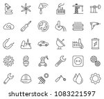thin line icon set   wrench... | Shutterstock .eps vector #1083221597