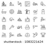 thin line icon set   office... | Shutterstock .eps vector #1083221624