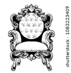 imperial baroque armchair with... | Shutterstock .eps vector #1083223409