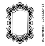 vintage luxury mirror frame... | Shutterstock .eps vector #1083223415