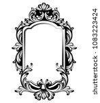 vintage luxury mirror frame... | Shutterstock .eps vector #1083223424