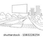 road billboard graphic black... | Shutterstock .eps vector #1083228254