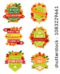 autumn sale label and fall... | Shutterstock .eps vector #1083229661