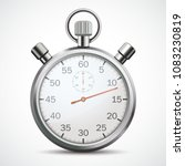 stopwatch on the white... | Shutterstock .eps vector #1083230819
