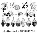 set bottles of olive oil and an ... | Shutterstock .eps vector #1083231281