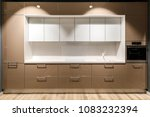 interior of modern kitchen with ... | Shutterstock . vector #1083232394