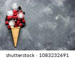 ice cream food art composition... | Shutterstock . vector #1083232691