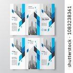 tri fold business brochure... | Shutterstock .eps vector #1083238361
