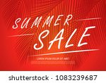 summer sale banner layout design | Shutterstock .eps vector #1083239687