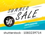 summer sale banner layout design | Shutterstock .eps vector #1083239714