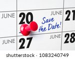 wall calendar with a red pin  ... | Shutterstock . vector #1083240749