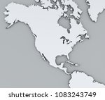 map of north america  white map ... | Shutterstock . vector #1083243749
