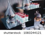cakes  sweets and drinks stand... | Shutterstock . vector #1083244121
