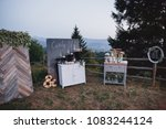 cakes  sweets and drinks stand... | Shutterstock . vector #1083244124