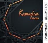 ramadan kareem greeting card...   Shutterstock .eps vector #1083248471