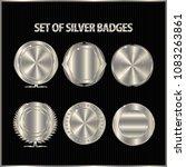 set of copper silver badges.   Shutterstock .eps vector #1083263861