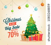 christmas sale in july  poster  ... | Shutterstock .eps vector #1083268859