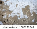 wall of an old house with... | Shutterstock . vector #1083272069