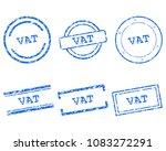 vat stamps on white | Shutterstock .eps vector #1083272291