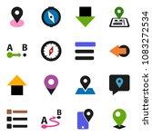 solid vector ixon set   compass ... | Shutterstock .eps vector #1083272534