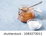 homemade salted caramel sauce.... | Shutterstock . vector #1083273011