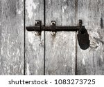 old iron padlock for your design | Shutterstock . vector #1083273725