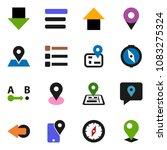 solid vector ixon set   compass ... | Shutterstock .eps vector #1083275324