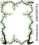 the green tree branch leaves... | Shutterstock .eps vector #1083285761