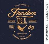 california eagle typography.... | Shutterstock .eps vector #1083287171
