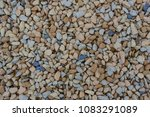 mixture of smooth round stones... | Shutterstock . vector #1083291089
