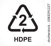 recycling symbols number 2 hdpe ... | Shutterstock .eps vector #1083291227